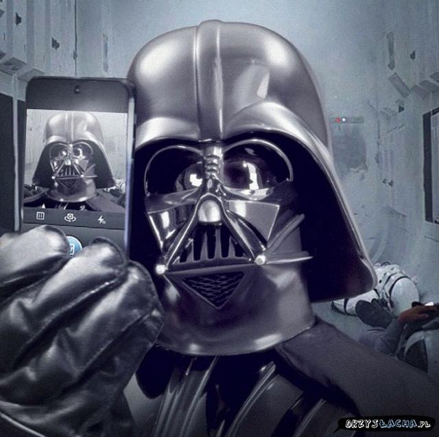 Ponidziałkowe selfie z Vaderem ;)