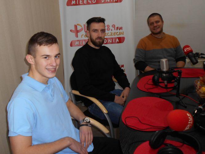 Piotr Wilento (dyrektor drużyny), Karol Nowacki, Oskar Skorupski (zawodnicy)